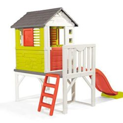 casitas infantiles de madera con tobogan
