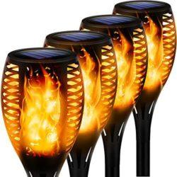 lamparas solares de jardín